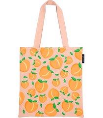 peach cotton canvas tote