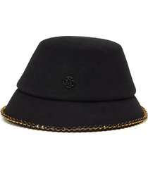 'souna' strass embellished chain felt bucket hat