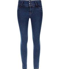jean mujer bolsillos traseros color azul, talla 10