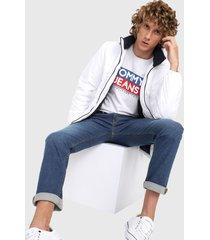 chaqueta blanco tommy jeans