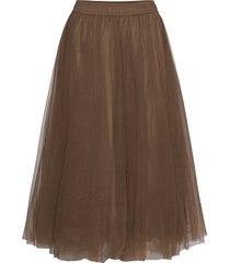 classic midi tulle skirt knälång kjol brun cathrine hammel
