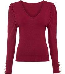 maglione con maniche a palloncino (rosso) - rainbow