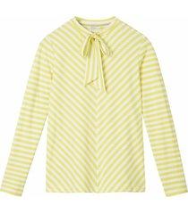 sandwich 21101632 30020 t-shirt long sleeves warm yellow geel