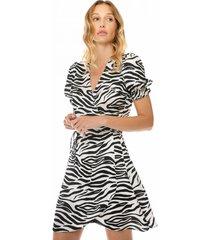 mc2 saint barth zebra print satin short dress