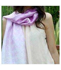 scarf, 'mottled violet' (thailand)
