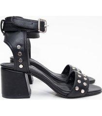 sandalia negra euro confort