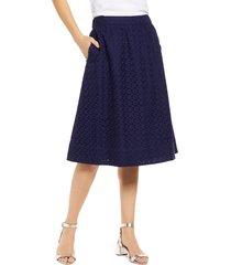 women's 1901 eyelet a-line skirt