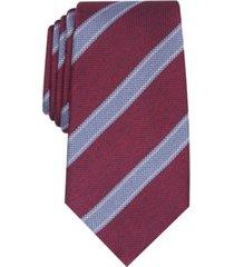 tasso elba men's classic stripe silk tie, created for macy's