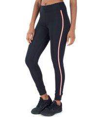 calça legging oxer active comfort color - feminina - preto/rosa