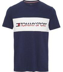 tommy hilfiger heren t-shirt logo driver - blauw
