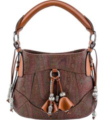 etro calf leather blend tote bag