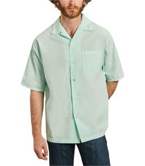 casual short sleeves shirt with logo pocket