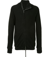 boris bidjan saberi textured zip-through sweatshirt - black