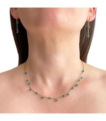 collar delicado cristal aguamarina