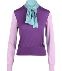 dolce & gabbana silk sweater with bow