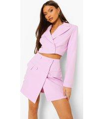 mix & match felle korte blazer, lilac