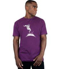 camiseta ventura cosmonauta roxo - kanui