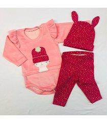 conjunto rosa con amor