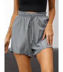 yoins basics pantalones cortos casuales con cintura con cordón