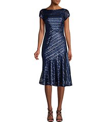 sequin knee-length fit-&-flare dress