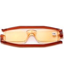 uomo donna nuovo pieghevole girevole anti-blu portatile moda senza bordi lettura trasparente occhiali