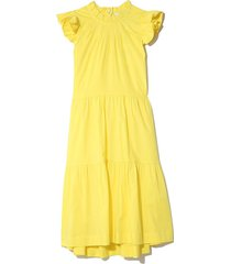 tabitha tiered dress in citron