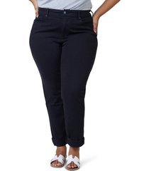 slink jeans high waist boyfriend jeans, size 16w in black at nordstrom