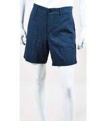 "steven alan men's navy cotton ""arc"" shorts blue sz: s"