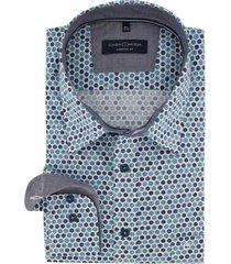 casa moda overhemd blauw motief comfort fit