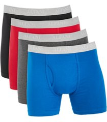 alfani men's 4-pk. stretch boxer briefs, created for macy's