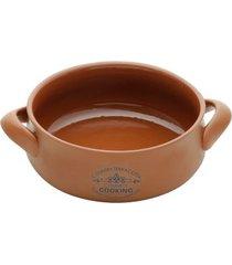 caçarola em cerâmica lyor country cooking 23cm marrom