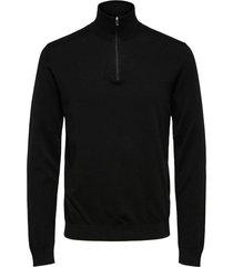 trui half zip zwart