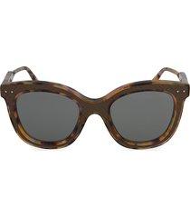 bottega veneta women's 50mm cat eye sunglasses - havana