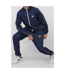 agasalho nike sportswear nsw ce trk suit pk basic azul-marinho