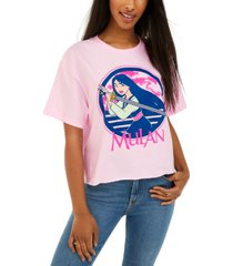 disney juniors' mulan cropped graphic t-shirt by mad engine