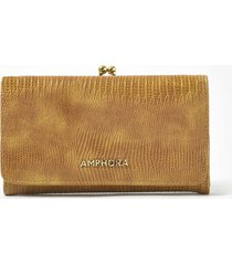 billetera amarilla amphora pelli
