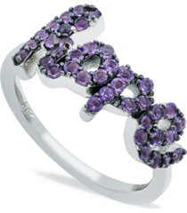 amethyst (1 ct. t.w.) 'hope' ring in sterling silver
