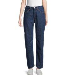 rag & bone women's engineer boyfriend jeans - blue - size 32 (12)
