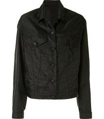 rta erika buttoned boyfriend jacket - black