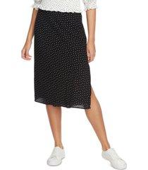 1.state polka-dot midi skirt
