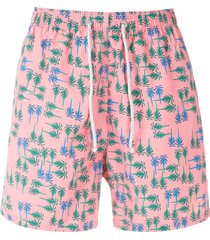 track & field beach ultramax printed swim shorts - pink