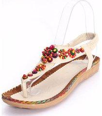 bohemia cuentas de diamantes ágata sandalias de flores forma las sandalias de empalme