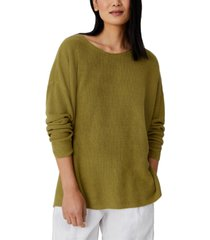 eileen fisher organic drop-shoulder sweater