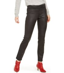 hue textured microsuede leggings