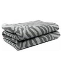 ami amalia manta com estampa de zebra - cinza