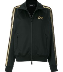 dsquared2 sequin logo track top - black