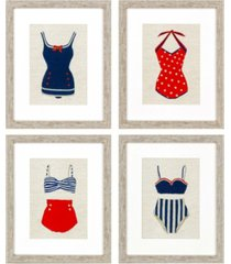 "paragon swim pack 4 framed wall art, 22"" x 18"""