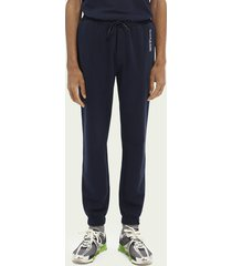 scotch & soda regular fit sweatpants van biologisch katoen