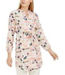 maison jules printed drawstring dress, created for macy's