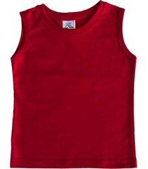 camiseta regata malha flame com punho lazy vermelha